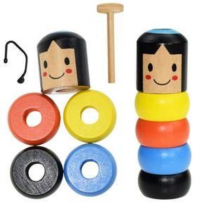 Unsterblicher Daruma Unbreakable Wood Man Kinder Geschenke Kreativspielzeuge