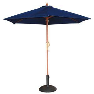 Bolero runder Sonnenschirm dunkelblau 3m