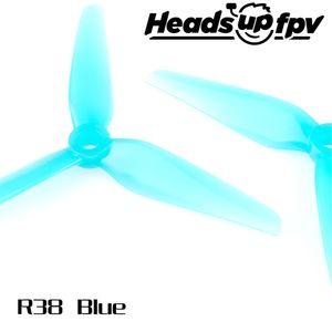 HQ Propeller Heads up fpv R38 3 Blatt Blau 4 Stück PC 5 Zoll
