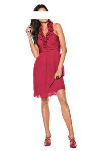 Ashley Brooke Event Damen Designer-Chiffon-Cocktailkleid, rot, Größe:42