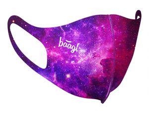 Mund und Nasenschutz Waschbar mit Galaxie Motiv, Mundschutz Maske für Kinder Mädchen, Schutzmaske Stoffmaske (Galaxy - Kinder)