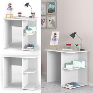 Vicco Schreibtisch Weiß PC Tisch Arbeitstisch Computer Regal Büro Jungend