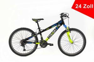 BRERA Combat 24 Zoll 21 Gänge Sportfahrrad Sportrad Damen Herren Unisex Mountainbike Fahrrad Aluminium Rahmen Schwarz