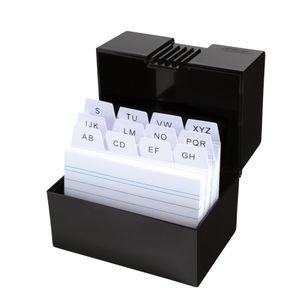Herlitz Karteikasten mit 100 Karteikarten / Lernbox / DIN A8 / Farbe: schwarz