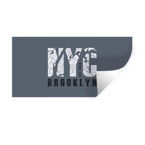 Wandaufkleber - New York - Brooklyn - NYC - 80x40 cm - Repositionierbar