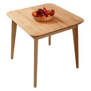 Krok Wood Esstisch Paris aus Massivholz in Buche 75x75x75 cm