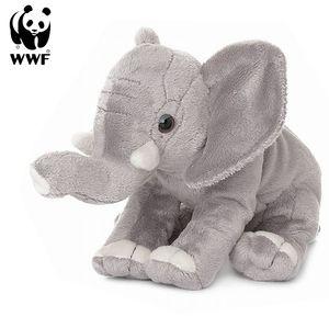 Plüschtier Elefant (Rüssel hoch, 18cm) lebensecht Kuscheltier Stofftier