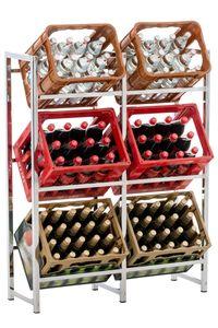 CLP Getränkekistenständer Lennert, Farbe:chrom, Größe:XL