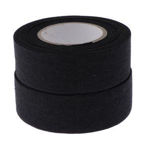 2 Rollen Schlägertape Hockey-Tape Griptape 25mm x 10m Farbe Schwarz