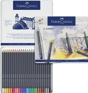 FABER-CASTELL Buntstifte GOLDFABER 24er Metalletui