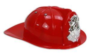Helm - Feuerwehrhelm für Kinder rot mit erhabenem Abzeichen
