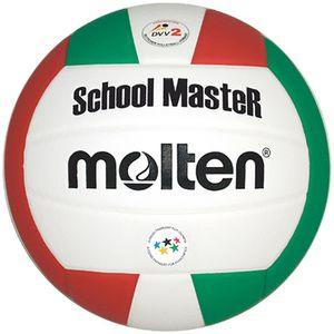 molten Volleyball SchoolMasteR Weiß/Grün/Rot Gr. 5