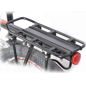 Fahrrad-Legierung Gepäckträger Cargo Carrier Rack-Universal-Montage von hinten (schwarz)