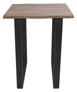 SIT Möbel Bartisch | B80 x T80 x H110 cm | Platte natur, Gestell antikschwarz|07107-63| Serie TISCHE & BÄNKE