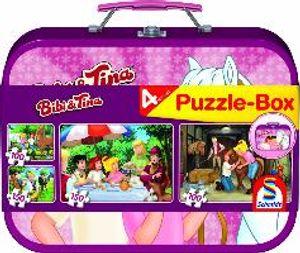 2 x 100 + 2 x 150 Teile Schmidt Spiele Kinder Puzzle Bibi & Tina Koffer 56509