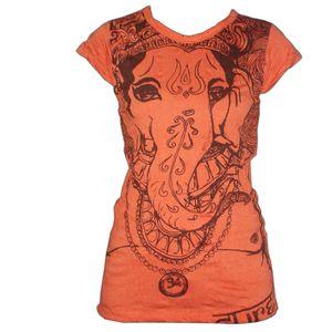 PANASIAM T-Shirt Ganesha, Farbe/Design:Orange, Größe:S