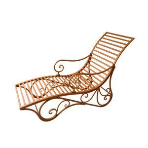 Garden Pleasure Liegebank KUWA Metall Rost-Optik 950501