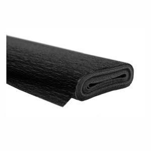 Creleo - Krepppapier schwarz 50x250 cm Rolle färbt nicht ab bei kontakt mit Wasser