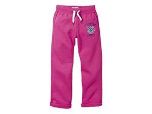 Kinder Mädchen Sweathose Sporthose Trainingshose Jogginghose Pink 134/140
