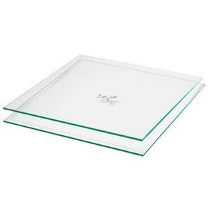phoenix Einlegeböden aus Glas Atlanta praktisches 2er Set, passend zu allen Atlanta-Regalen, Sicherheitsglas, für die quadratischen Fächer 117704TR