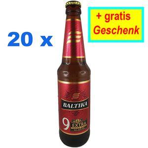 Baltika Nr. 9 Russisches Bier 8% vol. 20er Set + Gratis Geschenk Пиво Балтика
