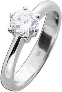 Solitär Ring Diamant Brillant Vorsteckring Weißgold 585 Brillant 0,76ct TW/VSI