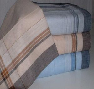 10 Herrentaschentücher farbig 100 Baumwolle 40 x 40 cm