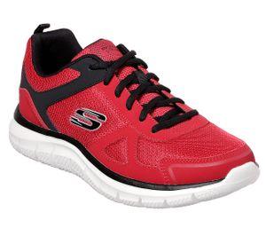 Skechers Herren Sneaker Sneaker Low Leder-/Textilkombination rot 42