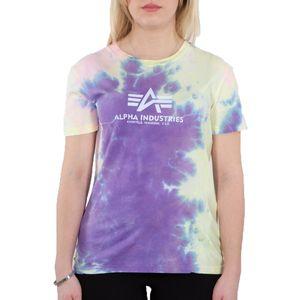 Alpha Industries Damen Basic T-Shirt Batik Wmn purple batik M