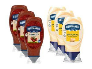 Hellmann's Grill BBQ Saucen Mix Original Mayonnaise Tomaten Ketchup 6er Pack