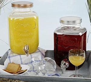4L Glas Getränkespender Zapfhahn Dispenser Saftspender Wasser Cocktail Spender