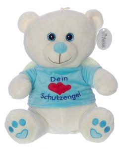 Schutzengel Plüsch Teddy Bär 40cm blau