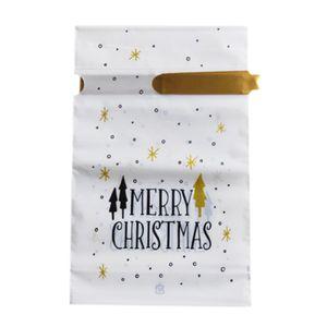 Weihnachts behandeln taschen-50 pack santa xmas tasche behandeln party favour geburtstags urlaub kekse pralinen kleine tasche mit kordeln frohe 23x15x6cm Goldenes Weihnachten Candy Bags