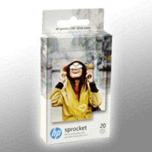 HP W4Z13A ZINK Fotopapier mit selbstklebender Rückseite 20 Blatt 5 x 7,6 cm