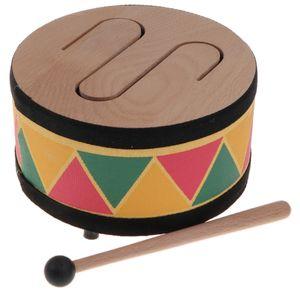 Trommel Spielzeug Kindertrommel Musikinstrumente Spielzeug mit Drei Tönen, aus Holz
