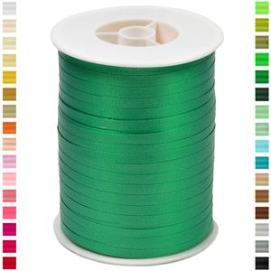 Geschenkband Ringelband 5mm, 500 Meter, Farbe:grün