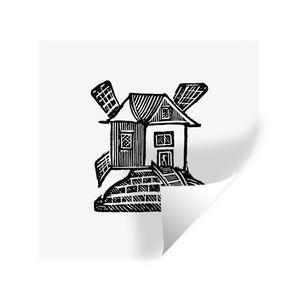 Wandaufkleber - Retro - Vintage - Windmühle - 50x50 cm - Repositionierbar