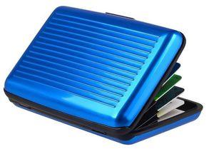 Kreditkartenetui Aluminium mit RFID Schutz   11.5x7.2cmx2cm Geldbörse   Visitenkartenetui Kartenhalter - Blau   Herren Kreditkartenhülle    Portemonnaie   Damen Portmonee Kartenhalter Alu Etui