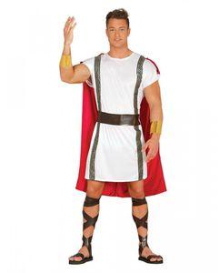 Rot-weißes Römer Kostüm für Fasching & Halloween Größe: M