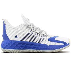 adidas PRO BOOST LOW - Herren Basketballschuhe Weiß Blau FW9505 , Größe: EU 42 2/3 UK 8.5
