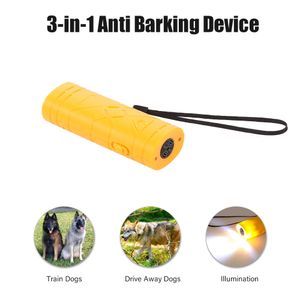 3 in 1 Anti Bellen Stop Bark Gerät Tragbare Handheld Ultraschall Pet Dog Repeller Control Trainingsgerät Trainer Mit LED