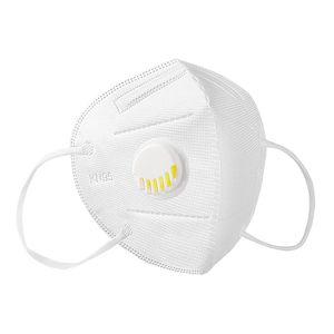 20x FFP2 Atemschutzmasken Maske  Deutscher Standard Masken Weiss mit Ventil  Atemschutzmaske Schutzmaske Bakterien Feinstaubmaske  Gesichtsmaske mit Atemventil wiederverwendbar