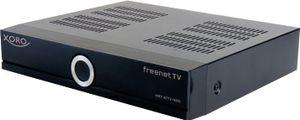 XORO HD (freenet TV) Receiver HRT8772, HDD ohne Festplatte DVB‐C/DVB‐T2  mit 2 Empfangsteilen,  PVR, Media‐Player, Schacht für SATA‐Festplatte, Farbe: Schwarz