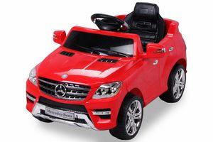 Kinder Elektro Auto Mercedes ML350 Kinderauto Kinderfahrzeug Elektrofahrzeug 50W, Farbe:Rot