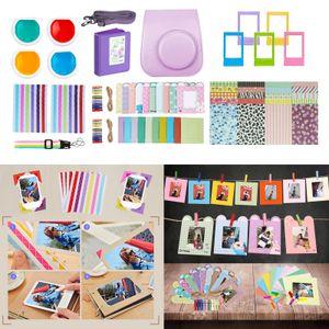 10 in 1 Instant Film Kamera Set Buch Album Foto Aufkleber für Instax Mini 11 Lila Kamerabündel 220 x 160 x 80 mm