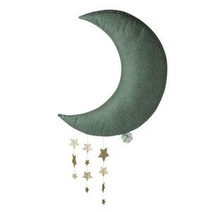 Picca Loulou  'Mond' (grau, 45cm) Wand-Deko mit Sternen Dekoration Weihnachten Moon