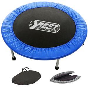 Best Sporting Fitness-Trampolin Indoor faltbar mit Tasche, blau-schwarz, Variante:Ø 96 cm