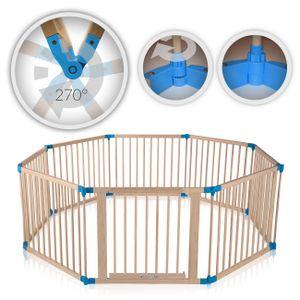 Baby Vivo Laufgitter aus Holz 8 Elemente - individuell verstellbar - PREMIUM