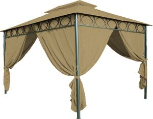 Dach für Pavillon 3x4 m, PVC beschichtet, wasserdicht - Farbe: braun