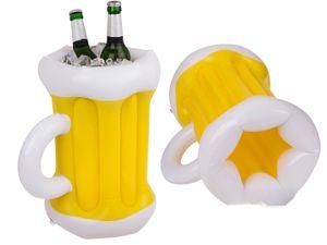 Getränkekühler Flaschenkühler Aufblasbar Garten Kühler Bierkühler Flaschen Palme Outdoor Wein Party Pool Getränkehalter aufblasbare, Version:Bierkrug